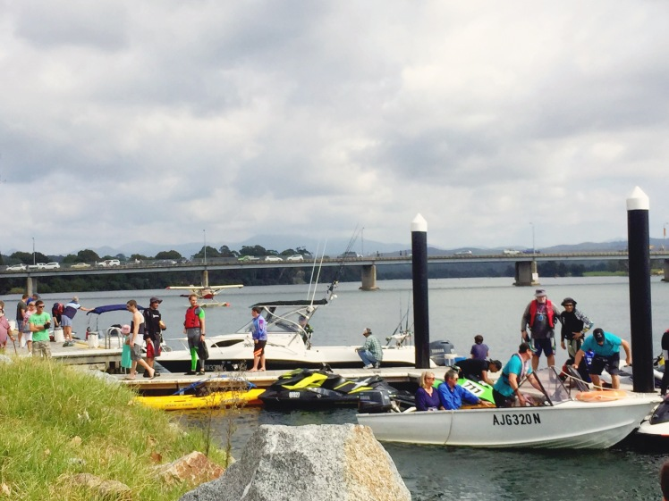 Moruya Country Market - boat arrivals 2
