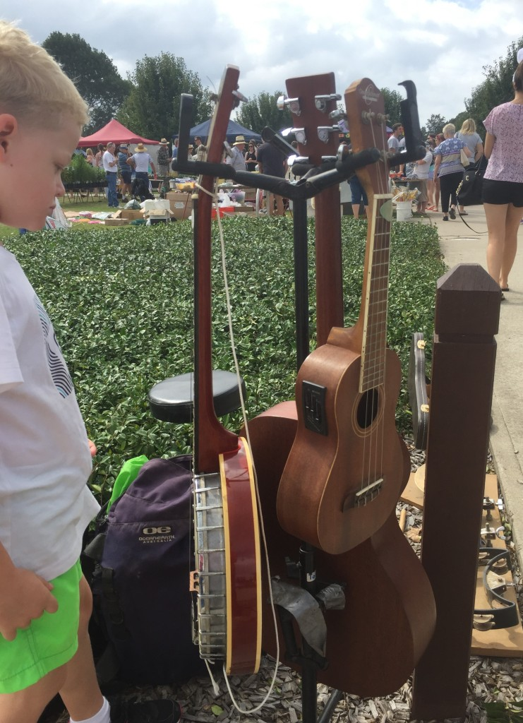Moruya Country Market - busker guitars