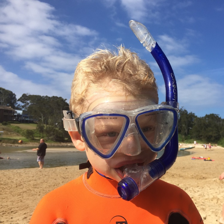 The Broulee Easter Bunny - Snorkelling at the inlet