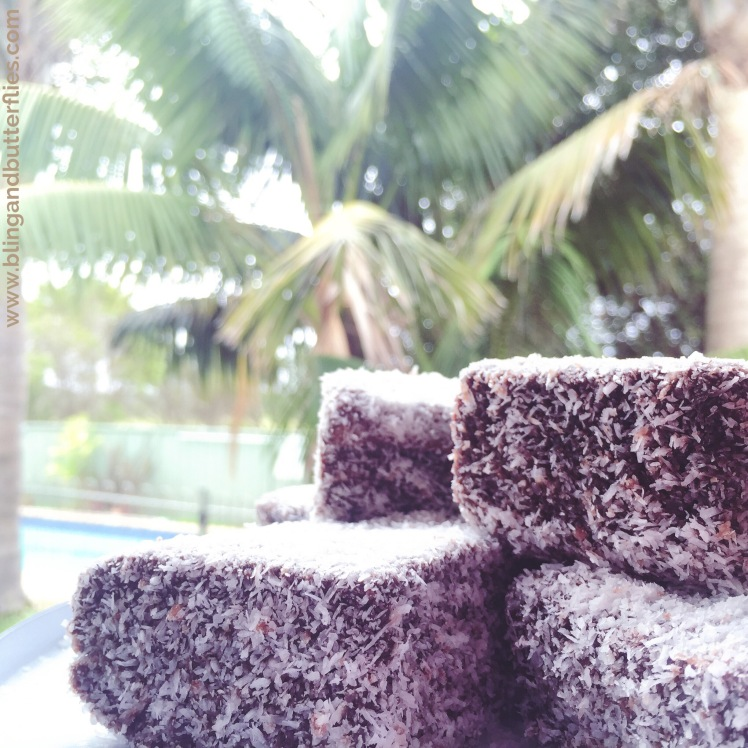 Yum lamingtons...